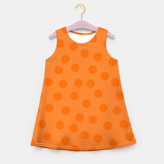 Miniatur Dots With Points Orange Girl's summer dress, Live Heroes