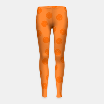Miniatur Dots With Points Orange Girl's leggings, Live Heroes