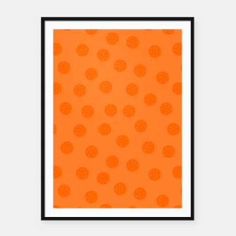 Miniatur Dots With Points Orange Framed poster, Live Heroes