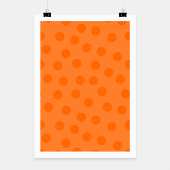 Thumbnail image of Dots With Points Orange Poster, Live Heroes