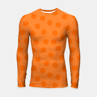 Thumbnail image of Dots With Points Orange Longsleeve rashguard , Live Heroes