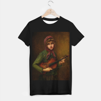 The Young Violin Player by Francois Martin-Kavel T-shirt regular thumbnail image