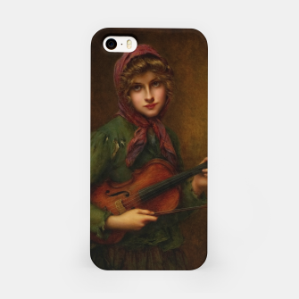 Thumbnail image of The Young Violin Player by Francois Martin-Kavel iPhone Case, Live Heroes