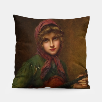 The Young Violin Player by Francois Martin-Kavel Pillow thumbnail image