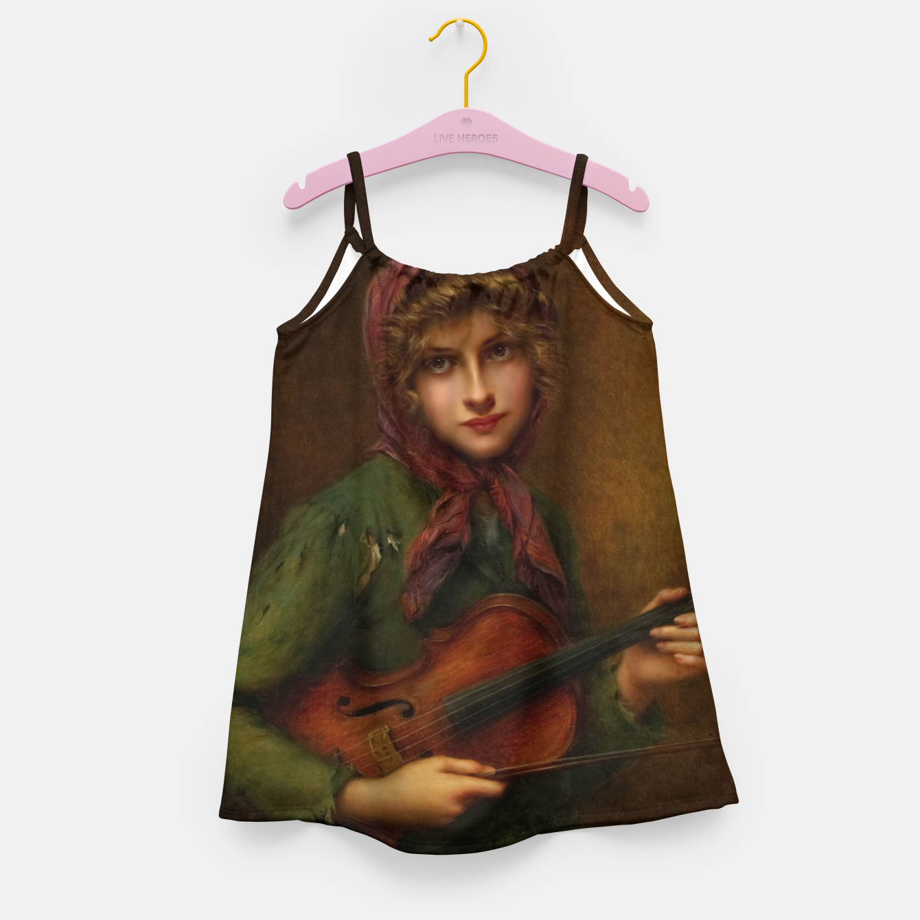 Image of The Young Violin Player by Francois Martin-Kavel Girl's dress - Live Heroes