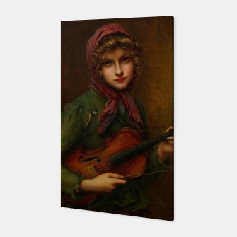 The Young Violin Player by Francois Martin-Kavel Canvas thumbnail image