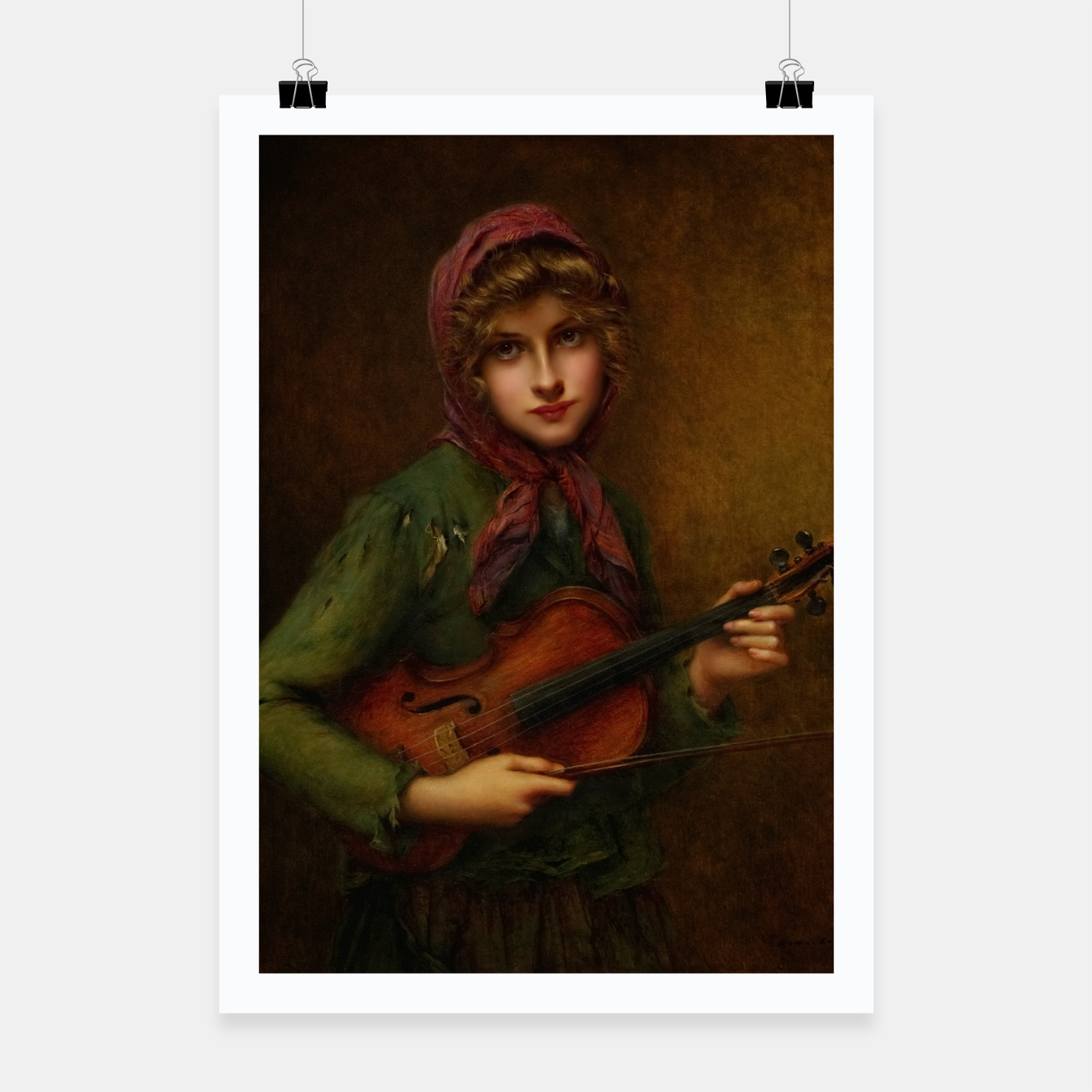 Image of The Young Violin Player by Francois Martin-Kavel Poster - Live Heroes