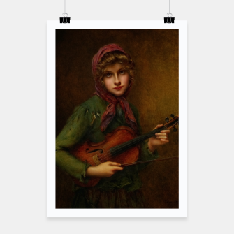 The Young Violin Player by Francois Martin-Kavel Poster thumbnail image