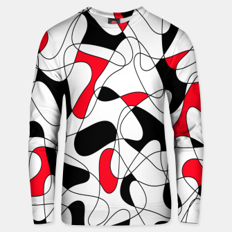 Thumbnail image of Abstract pattern - red, black and white. Unisex sweater, Live Heroes