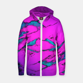 Thumbnail image of Fractured anger pink Zip up hoodie, Live Heroes