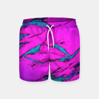 Thumbnail image of Fractured anger pink Swim Shorts, Live Heroes