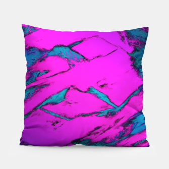 Thumbnail image of Fractured anger pink Pillow, Live Heroes