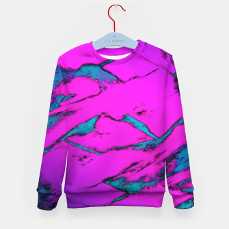 Thumbnail image of Fractured anger pink Kid's sweater, Live Heroes