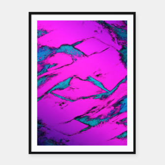 Thumbnail image of Fractured anger pink Framed poster, Live Heroes