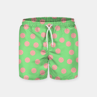 Miniatur Dots With Points Spring Meadow Swim Shorts, Live Heroes