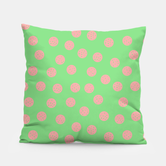 Miniatur Dots With Points Spring Meadow Pillow, Live Heroes