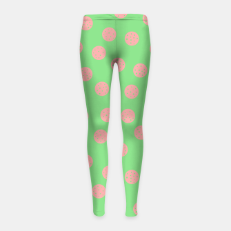 Miniatur Dots With Points Spring Meadow Girl's leggings, Live Heroes