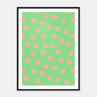 Miniatur Dots With Points Spring Meadow Framed poster, Live Heroes