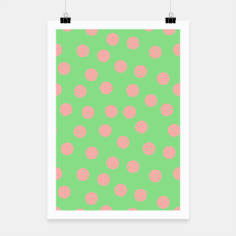 Miniatur Dots With Points Spring Meadow Poster, Live Heroes