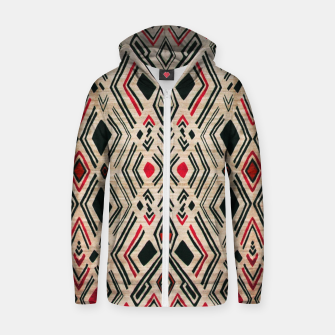 Miniatur Boho Style Traditional Moroccan Design Zip up hoodie, Live Heroes