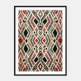 Miniatur Boho Style Traditional Moroccan Design Framed poster, Live Heroes