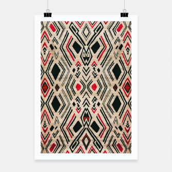 Miniatur Boho Style Traditional Moroccan Design Poster, Live Heroes