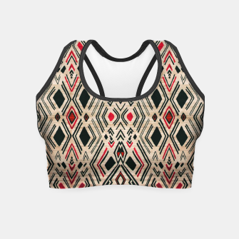 Miniatur Boho Style Traditional Moroccan Design Crop Top, Live Heroes