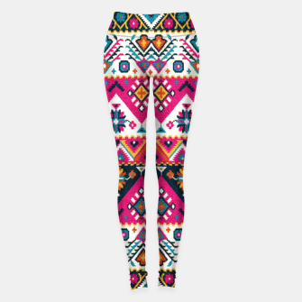 Thumbnail image of Colored Floral Traditional Moroccan Boho Oriental Style Leggings, Live Heroes