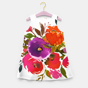 Miniatur flowers2 Girl's summer dress, Live Heroes