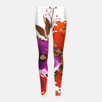 flowers2 Girl's leggings obraz miniatury