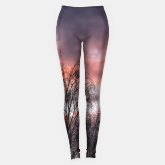 Dark sunset Leggings Bild der Miniatur