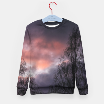 Dark sunset Kid's sweater Bild der Miniatur
