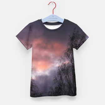 Dark sunset Kid's t-shirt Bild der Miniatur