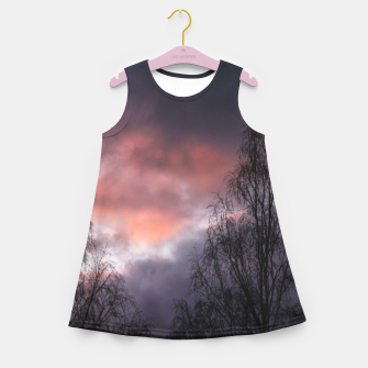 Dark sunset Girl's summer dress Bild der Miniatur