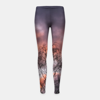 Dark sunset Girl's leggings Bild der Miniatur