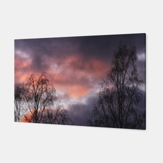 Dark sunset Canvas Bild der Miniatur