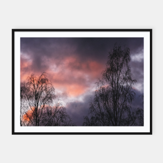Miniatur Dark sunset Framed poster, Live Heroes