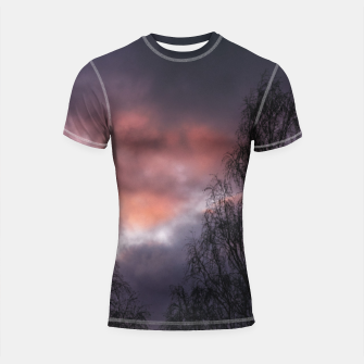 Thumbnail image of Dark sunset Shortsleeve rashguard, Live Heroes