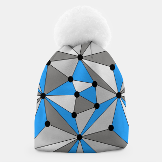 Miniature de image de Abstract geometric pattern - blue, gray and white. Beanie, Live Heroes