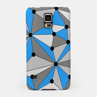 Miniature de image de Abstract geometric pattern - blue, gray and white. Samsung Case, Live Heroes