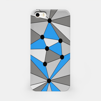 Miniature de image de Abstract geometric pattern - blue, gray and white. iPhone Case, Live Heroes