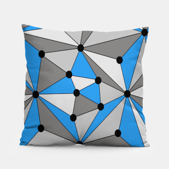 Miniature de image de Abstract geometric pattern - blue, gray and white. Pillow, Live Heroes