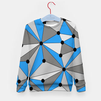 Miniature de image de Abstract geometric pattern - blue, gray and white. Kid's sweater, Live Heroes
