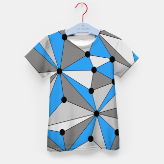 Miniature de image de Abstract geometric pattern - blue, gray and white. Kid's t-shirt, Live Heroes