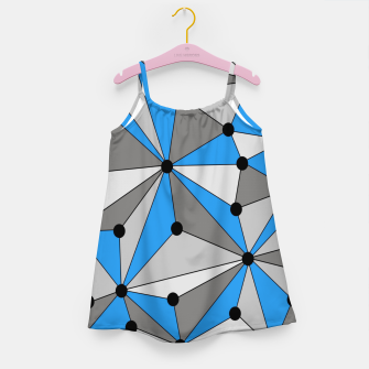 Miniature de image de Abstract geometric pattern - blue, gray and white. Girl's dress, Live Heroes