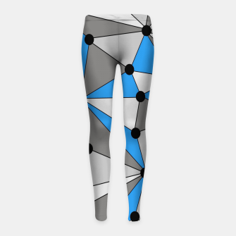 Miniature de image de Abstract geometric pattern - blue, gray and white. Girl's leggings, Live Heroes