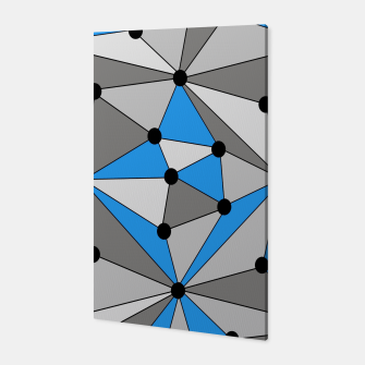 Miniature de image de Abstract geometric pattern - blue, gray and white. Canvas, Live Heroes