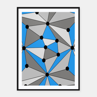 Miniature de image de Abstract geometric pattern - blue, gray and white. Framed poster, Live Heroes