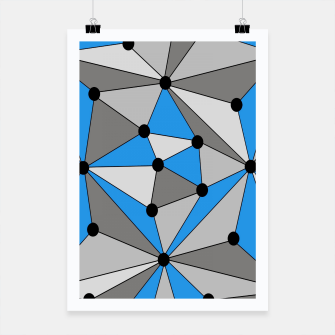 Miniature de image de Abstract geometric pattern - blue, gray and white. Poster, Live Heroes
