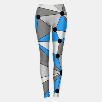 Miniature de image de Abstract geometric pattern - blue, gray and white. Leggings, Live Heroes